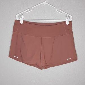 Lululemon Mauve Trailbound Running Zip Shorts